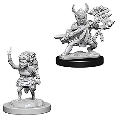 Dungeons & Dragons Nolzur's Marvelous Unpainted Minis: Female Halfling Fighter