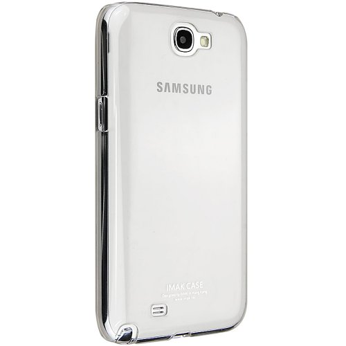 Imak Crystal Transparent Flip Thin Hard Bumper Back Case Cover For Samsung Galaxy Note 2 N7100  available at amazon for Rs.279