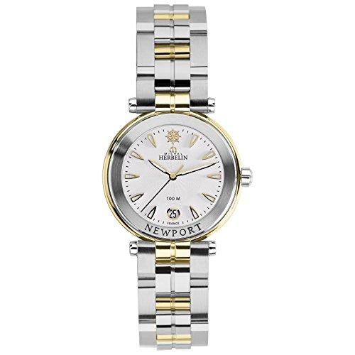 Michel Herbelin Unisex Erwachsene Analog Uhr mit Edelstahl Armband 14285/BT11