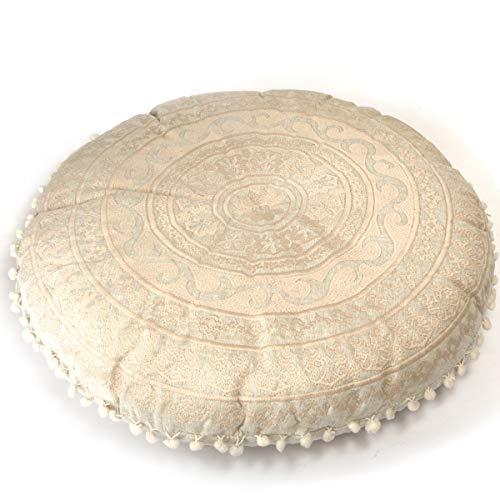 Mandala Life ART Luxus Bohemian Bodenkissen- Pouf Puff Ottoman - Sitzsack - 60cm Runde...