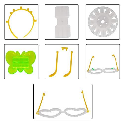 100Knicklicht-Armbänder mit Anschlüssen, leuchtende Handgelenk-Bänder, Trinkhalme für Tanz, Raves oder als Party-Füller.