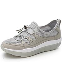 5f953d32a585b LFEU Basket Femme Compensé Sneakers Mode pour Parent Bulle D Air Bande  élastique Voyage Antidérapant