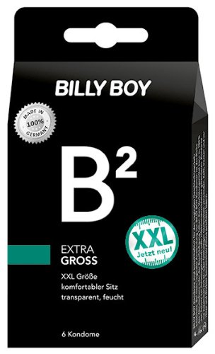 Billy Boy B² extra groß XXL Kondome transparent, 2er Pack (2 x 6 Stück)