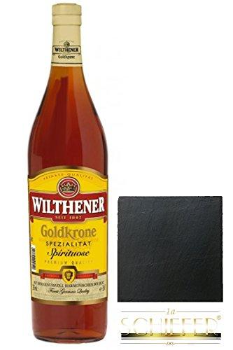 Wilthener Goldkrone Weinbrand 3,0 Liter Magnum + Schieferglasuntersetzer