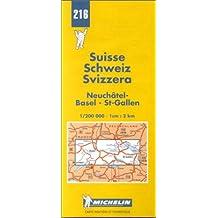Carte routière : Neuchâtel - Basel - St-Gallen, N° 216