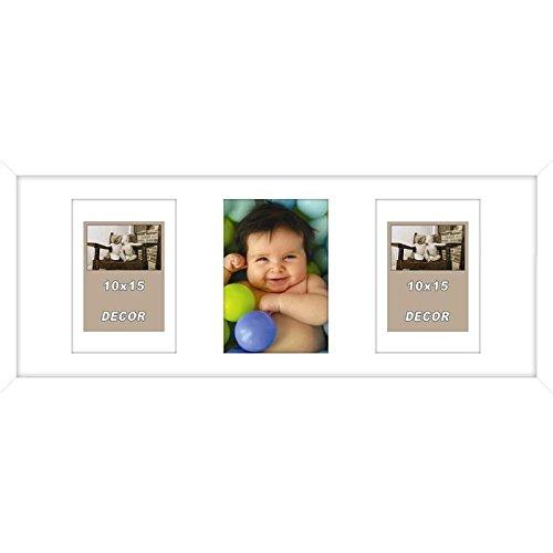 ERIKA Cadre photo pele-mele 3 vues Erika 20x50 cm Blanc mat