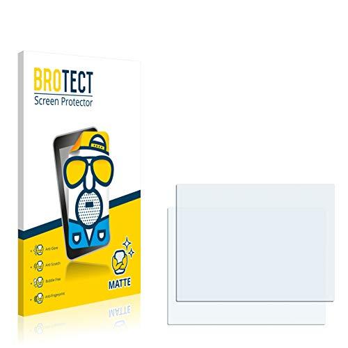brotect 2X Entspiegelungs-Schutzfolie kompatibel mit Rollei Powerflex 210 HD Displayschutz-Folie Matt, Anti-Reflex, Anti-Fingerprint