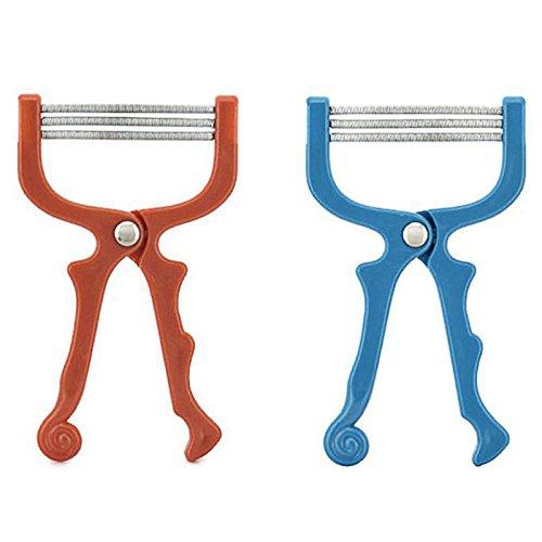 Zantec Portable Gesichtsbehaarung Epilierer Fine Haarentfernung Gerät Edelstahl Frühling Gesicht Haar Rasur Schönheit Werkzeug