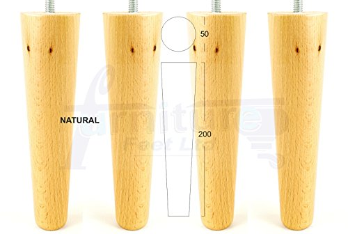 prev. 4 x WOODEN FEET REPLACEMENT FURNITURE LEGS 200mm HEIGHT FOR SOFAS