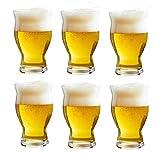 YYCDD Whisky Cup, Kristall Glas Weinglas kreative Bierkrug Sets, einfach zu reinigen/Elegantes Design Set von 6 (480ml)