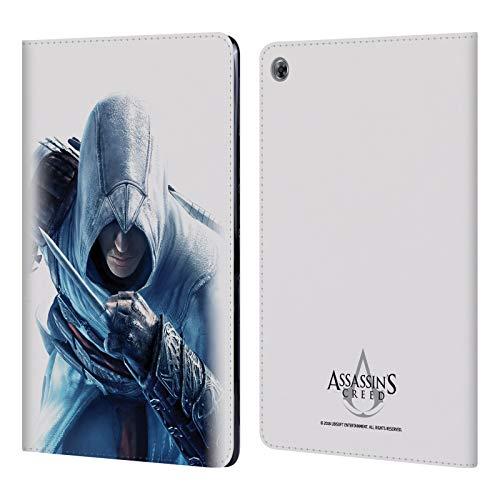 fizielle Assassin's Creed Altaïr Versteckte Klinge Schluessel Kunst Leder Brieftaschen Huelle kompatibel mit Huawei MediaPad M5 Lite ()