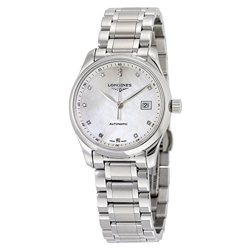 Longines Master Collection automático madre de perla Dial Acero inoxidable Acero Damas Reloj l22574876por Longines
