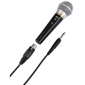 Hama Dynamisches Mikrofon DM 60 mit Nierencharakteristik, Metallgehäuse, Kabellänge 3 m, schwarz