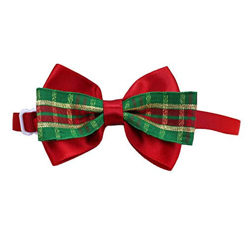 Mini Bow Tie (Kicode Puppy Necktie Christmas Costume Party Einstellbar Grooming Accessories Bow Tie Festive Decoration)