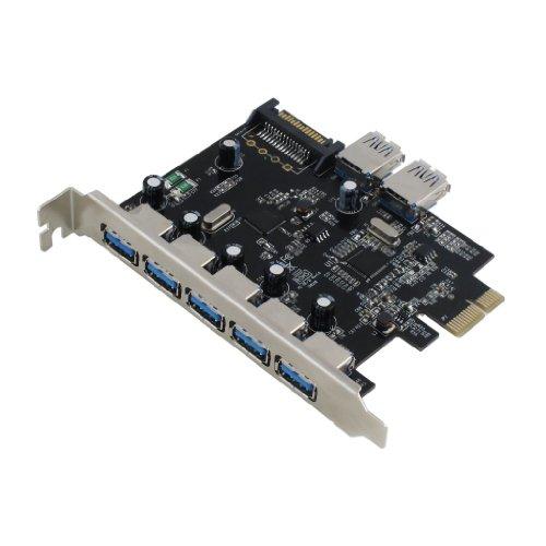 sedna-pci-express-usb-30-7-porte-adattatore-supporta-win-8-uasp-super-velocita-connettore-di-aliment