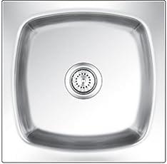 nirali Grace plain Big Glossy Stainless Steel Sink (21 x 18-inches)