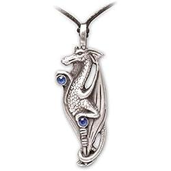 Zoelibat 97209541.112-Gothic Punk Colgante, dragón Chino, Piedra, 5x 2cm, Color Azul