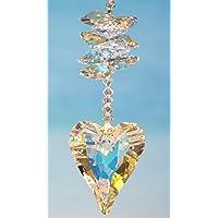 Herz Sonnenfänger – handgearbeitet aus Kristallen von Swarovski®, Valentinstag-Geschenk