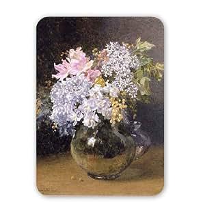 Motivo fiori primaverili N, in un vaso di Maud Naftel - Tappetino per il Mouse Art247 naturale di alta qualità in gomma - Tappetino per il Mouse