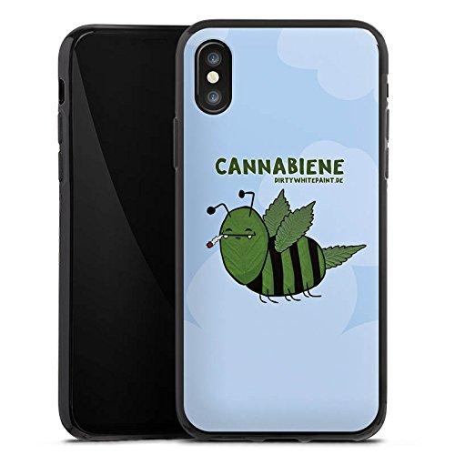 Apple iPhone X Silikon Hülle Case Schutzhülle DirtyWhitePaint Fanartikel Merchandise Cannabiene Silikon Case schwarz