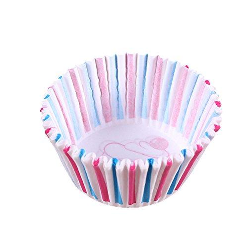upcake Muffin Backen mit Kunststoffbox für Weihnachten Halloween Kinder Geburtstagsfeier Cupcake Wrappers (#4) ()