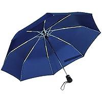 In alluminio e plastica in fibra di vetro a coste ombrello pieghevole ombrello blu diametro Ø97, rivestimento idrorepellente speciale completamente automatico open/close pulsante