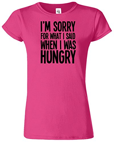 I'M SORRY FOR WHAT I SAID Mesdames T-shirt Tshirt drôle Top Antique Heliconia / Noir Design