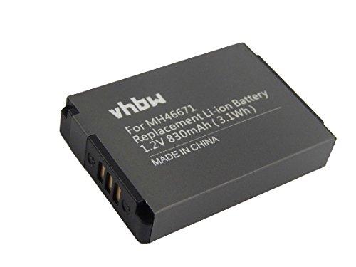 vhbw Li-Ion batteria 830mAh (3.7V) per cuffie, Headset Parrot ZIK 2.0, 3 come 1ICP7/28/35, MH46671, PF56100.