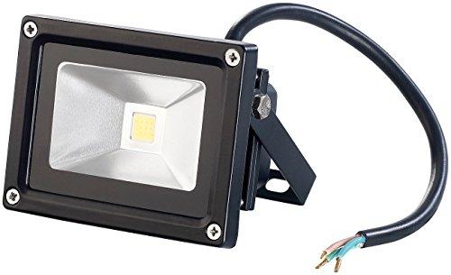 PEARL LED-Halogenstrahler: Wetterfester LED-COB-Fluter, Metallgehäuse, 10 W, IP65,5400K (LED Strahler)