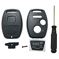 Horande Keyless Entry Remote Control Replacement Key Fob Case Shell fits for Honda 2003-2007 2008 2009 Accord Civic Pilot 2005-2011 CR-V Ridgeline Key Fob Cover Blank With Screwdriver