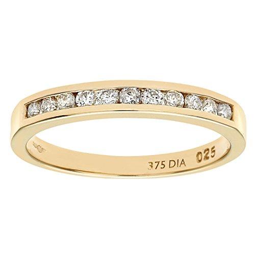 Naava Damen-Ring 9 K 375 Gelbgold Gr. 58 (18.5) 11 Diamant PR3626 H (Frauen Wedding-ring-gelb Gold)