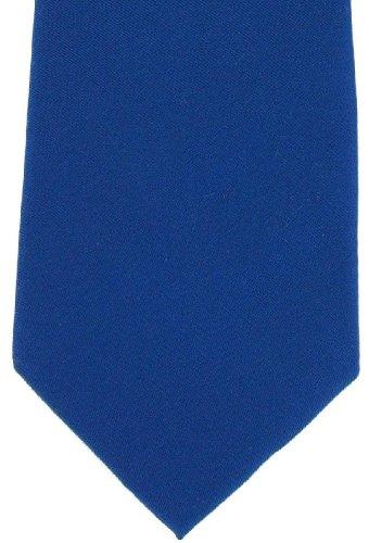 Michelsons of London Cravate bleu royal uni en soie de
