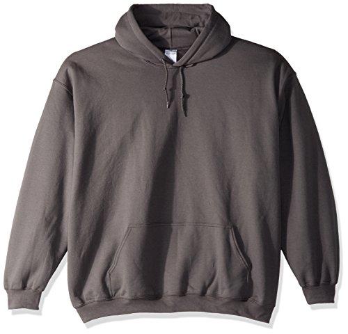 Gildan Gildan Adult 50/50 Cotton/Poly. Hooded Sweat-Felpa Uomo Grigio - grigio scuro