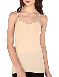 Bralux Women's Stretchable Cotton Fabric Thin Shoulder Cotton Stretch Slips