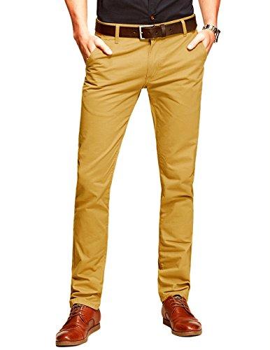 Gelbe Hosen Für Männer (Match Herren Slim Casual Hose #8025 (8118 Khaki gelb,34))