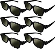 Lot of 6X RealD Technology 3D Polarized Gl for TV/Movies/Cinema/HD