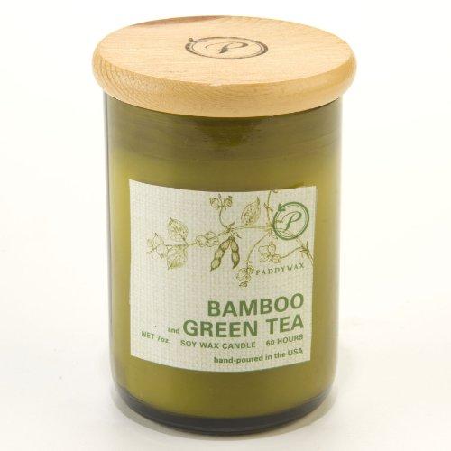 Paddywax Eco Green Sojawachskerze, 227g, Duft Bambus und Grüner Tee