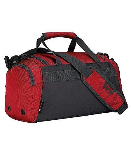 Suzone Oxford fitness bag Leisure borsa messenger bag borsa da palestra borsone sportivo borsone da viaggio con scomparto per scarpe, donna, Black Red