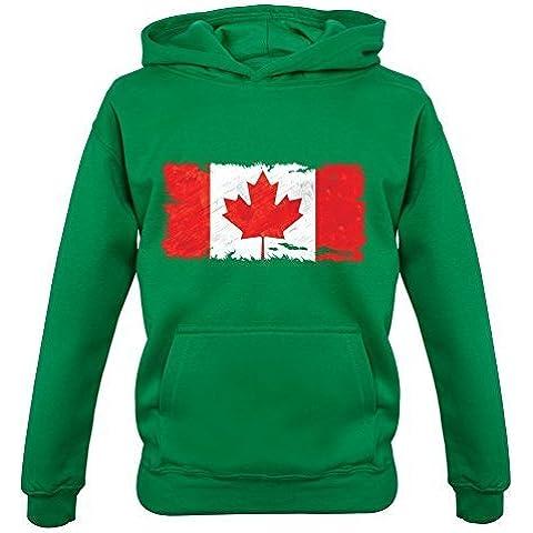 Canada Grunge Stile Bandiera - Bambini / Felpa Con Cappuccio Per Ragazzi - 9 Colori -età Compresa Tra 1-13 Anni - Colori Bandiera Irlandese
