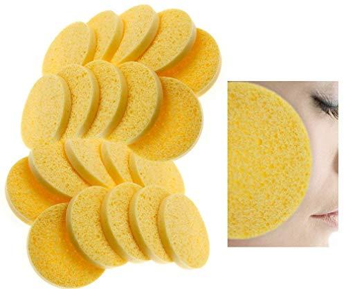 Natürliche Gesicht (Micro Trader New 20x Zellstoff Gesichts Schwämme natürlichem Reinigung Schwamm)