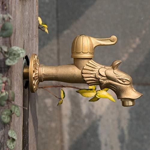 n Wasserhahn Verlängern Mopp Pool Tap Antike Landschaft Drachenform Kunst Kaltes Wasser Wand Unterlegscheibe Wasserhahn ()