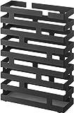 Brick - Portaombrelli, misura L, 30 x 43 x 10 cm, colore: Nero