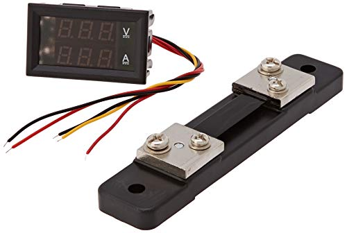 Generic YB27VA-50A Dual Display Digital Voltmeter/Ammeter, DC 0V-100V/50 Amp, +50 Amp/75mV Shunt