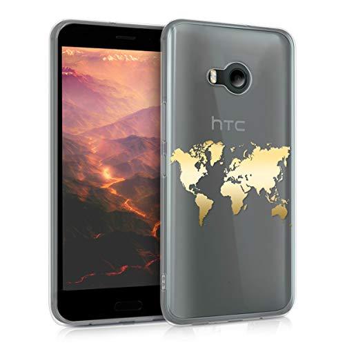 kwmobile HTC U11 Life Hülle - Handyhülle für HTC U11 Life - Handy Case in Gold Transparent