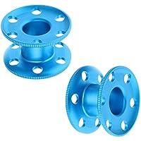 MagiDeal 2pcs Bobine De Corde De Plongée Aluminium Durable Bleu Env. 8,3 x 5,1 cm