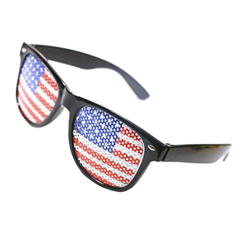 Baoblaze Niedliche Sonnenbrille Partybrille Spaßbrille Brillen Kostüm Gläser Party Zubehör in vielen Motiv - USA Flagge
