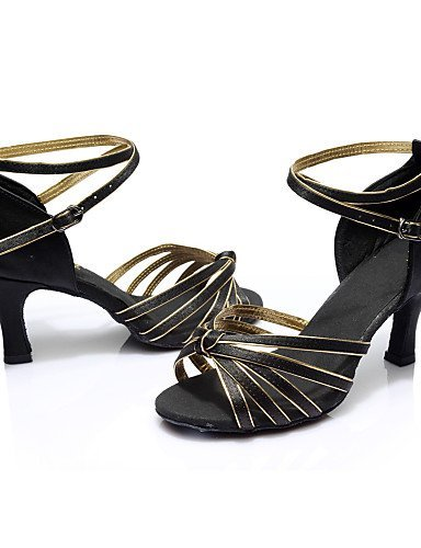 ShangYi Chaussures de danse ( Noir / Bleu / Marron / Rouge / Argent / Or / Léopard / Autre ) - Personnalisables - Talon Personnalisé -Satin / Blue