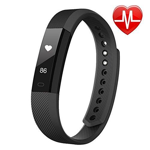 Torus Pro Fit schwarz Herzfrequenzmesser und Activity Tracker Fitness Uhr mit Schrittzähler und Kalorienzähler. Diese Fitbit gestylt Sport Zubehör ist kompatibel mit iPhone und Android