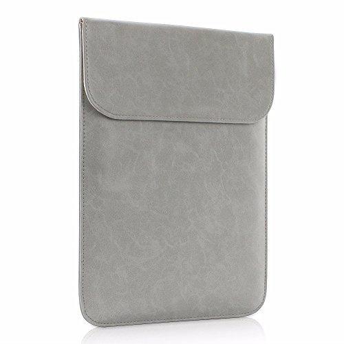 Allinside Grau Synthetischen Ledertasche für Macbook Air 13 Zoll Pro 13 Zoll mit/ohne Retina und Neue Macbook Pro 13 Zoll mit/ohne Touch Bar