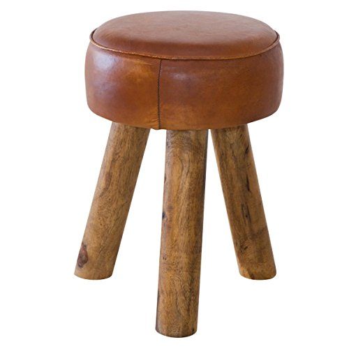 In The Round Leather Stool